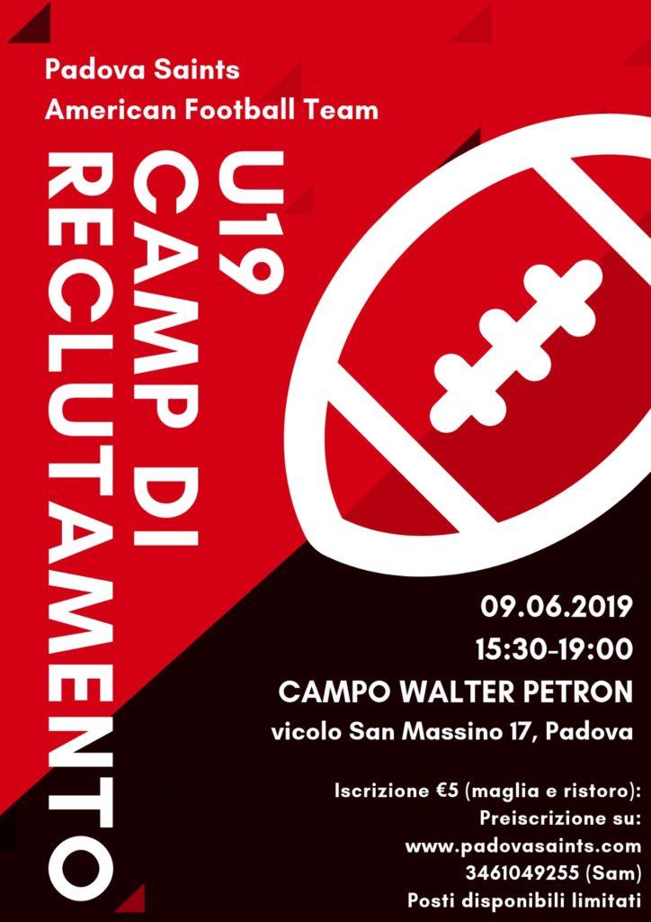 Camp Padova Saints 9 Giugno